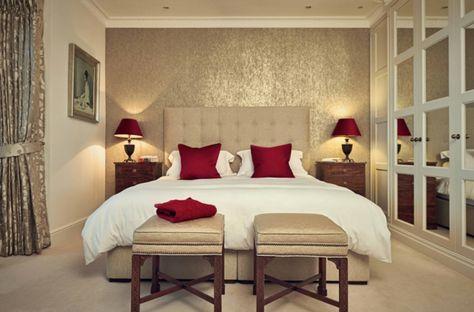 Grand Idée Déco Chambre Adulte Romantique Beige Rouge Et Blanc