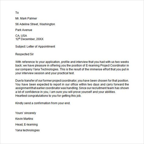 A resignation acceptance letter is the letter to an employee from - letter of termination