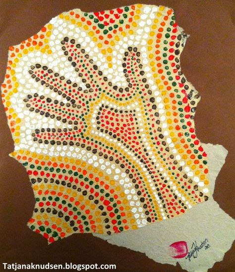 Aboriginal Art -  Dot Painting for kids.