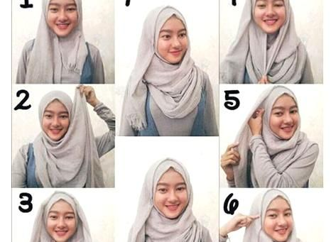 Tutorial Hijab Pashmina Untuk Wajah Bulat Yang Simple Hijab Tutorial Pashmina Hijab Tutorial Simple Hijab