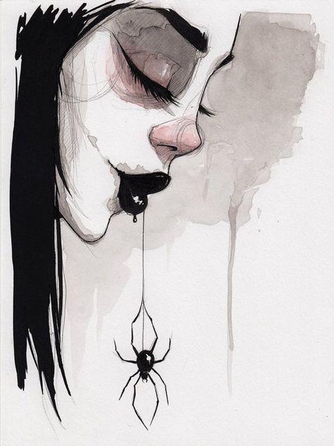 Gothic Drawings, Scary Drawings, Dark Art Drawings, Pencil Art Drawings, Art Drawings Sketches, Dark Art Illustrations, Sketch Drawing, Arte Horror, Horror Art