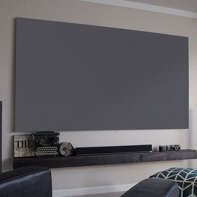 Elite Screens Aeon Gray 100 Diagonal Fixed Frame Projection Screen Wayfair In 2020 Fixed Projector Screen Projection Screen Projector Screen Diy