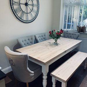 39+ White farmhouse table seats 8 info