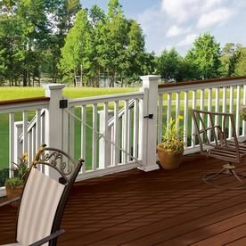 Freedom Assembled 6 Ft X 3 Ft Prescot White Pvc Deck Railing Kit At Lowes Com Deck Railings Pvc Decking Privacy Fence Designs