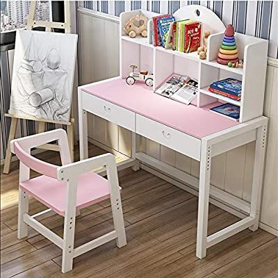 Amazon Com Kids Desks Children S Lift Top Desk And Chair Student Study Computer Workstation Great Gift For Girls And Boys In 2020 Kids Study Table Kid Desk Kids Desk