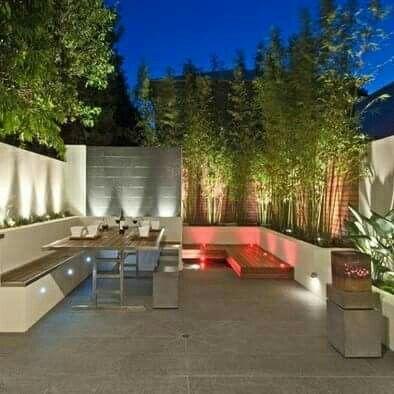 Decoración De Patio Con Bambú Jardines Jardines Pequeños