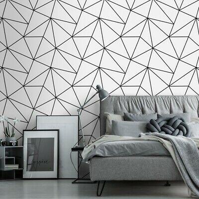 Pin On Room Black geometric wallpaper uk