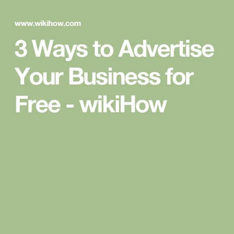 How to Advertise Your Business for Free