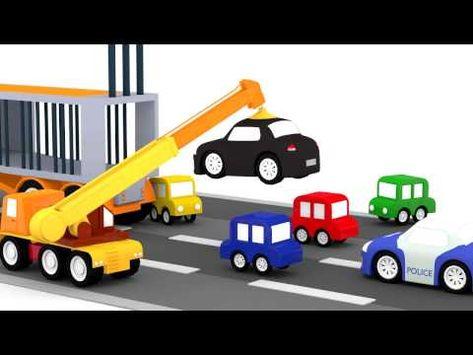 Lehrreicher Zeichentrickfilm Die 4 Kleinen Autos Der Raser