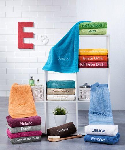 Bestickte Handtucher Sind Als Geschenk Echte Klassiker Und