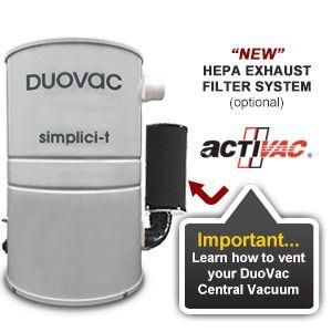 Duovac Simplici T Central Vacuums Simplicity Vacuum Vacuums