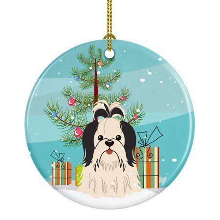 Shih Tzu Christmas Tree Ornament Black