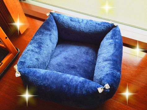 100円クッションを使った犬用ベッドの作り方 借りぐらしのショコラッティ ベッド の 作り方 犬用ベッド 猫 ベッド 手作り