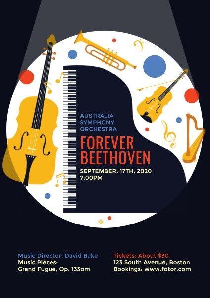 Online Symphony Concert Poster Template Fotor Design Maker Concert Posters Design Maker Poster Template