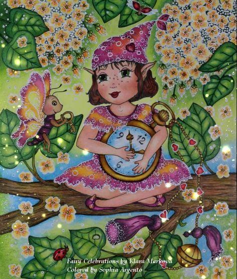 coloring book fairy celebrationsklara markova with