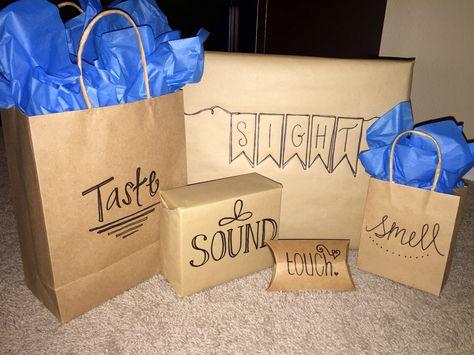 5 senses gift idea for the friend, family member or boyfriend!