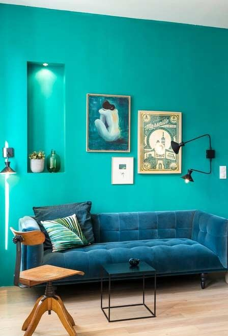 Casa de color turquesa