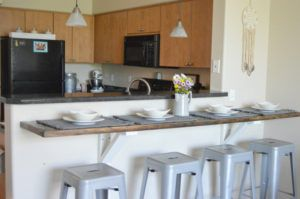 Diy Floating Farmhouse Counter And Kitchen Kitchen Bar Counter Kitchen Bar Kitchen