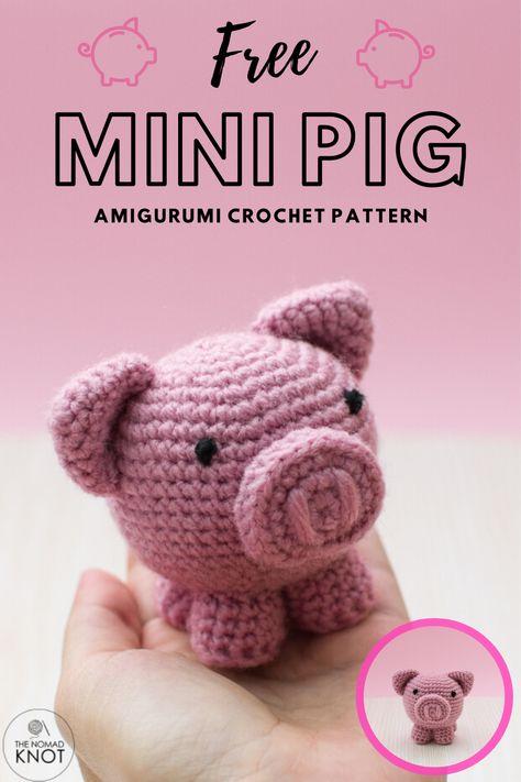 Diy Crochet Doll, Fast Crochet, Crochet Pig, Chrochet, Crochet Shoes Pattern, Crochet Amigurumi Free Patterns, Easy Crochet Patterns, Beginner Crochet Projects, Crochet For Beginners