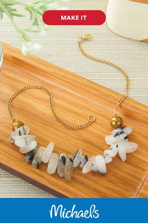 Black Quartz Collar Necklace