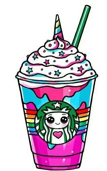 Kawaii Starbucks Unicorn Starbucks Malyunki Disney Yedinorogi