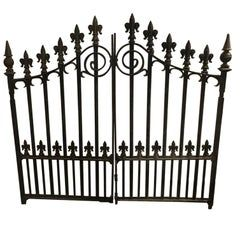 Pair Of 1stdibs Balustrades Fixtures Revival Cast Gates Acorn