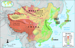 Physical Map Of East Asia World Pinterest - Map of east asia