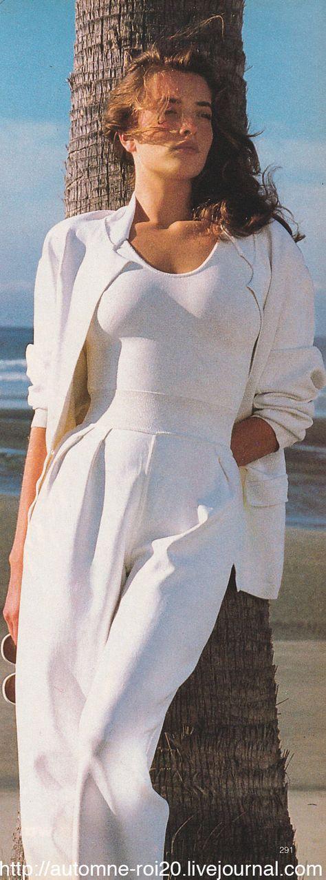 "US Vogue May 1987 ""The Great White Way"" Model: Tatjana Patitz Photographer: Denis Piel"