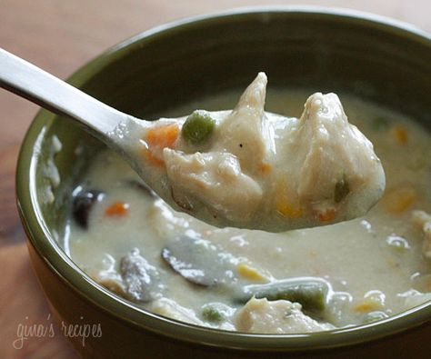 Chicken Pot Pie Soup #soup #chicken #potpie #potatoes #greenbeans #onions