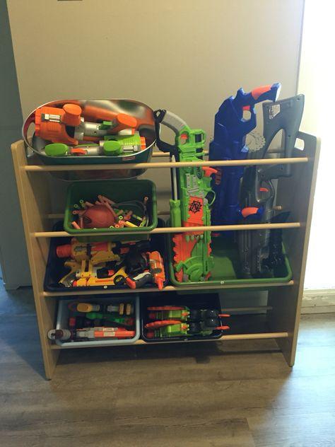 Nerf gun shelf · Creative Toy StorageStorage IdeasNerf ...