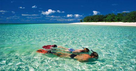Snorkeling in crystal blue waters
