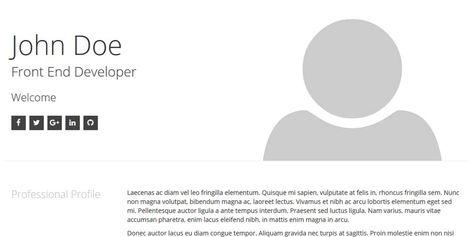 Free Classic CV / Resume HTML Template