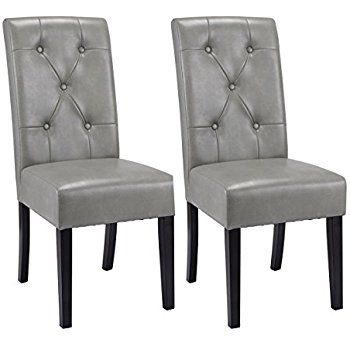 bfe58e5daa20 Grey Leather Dining Chairs lumisource black and grey clubhouse vintage faux  leather dining chair OEJETBY - Home Decor Ideas