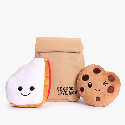Cookie Dog Toy Peanut Butter Jelly Dog Toy Bark To School