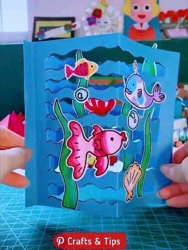 técnica de pop up em cartão de aniversário. <pop-up card [sailing ship] original handmade by Kagisippo. ------------------------- [Youtube] youtu.be/_JljNMU5gtU dessert> - Alaskacrochet.com