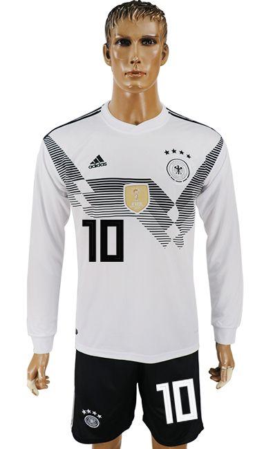 Germany 2018 World Cup Ls Kit 10 Long Sleeve Tshirt Men Cheap Football Shirts Soccer Shirts