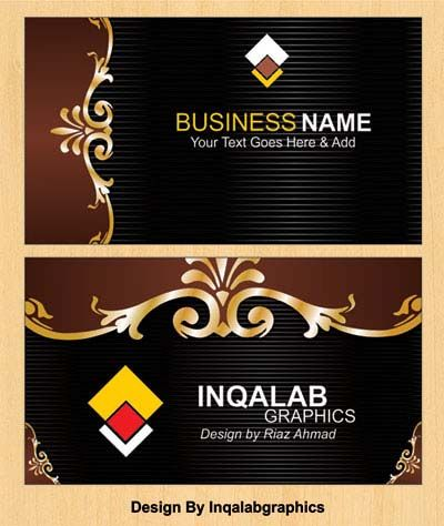 Free Printable Business Cards Vector Corel Draw Designs Cdr Files