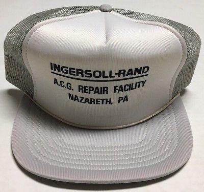 Vtg Ingersoll Rand Trucker Hat Acg Repair Facility Cap Nazareth Pennsylvania Pa Ebay Trucker Hat Trucker Acg