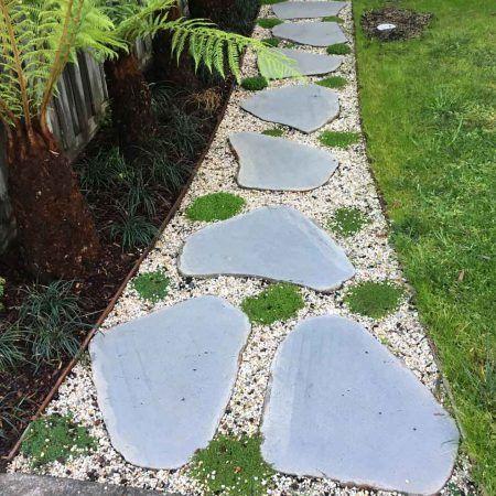 Bluestone Stepping Stone Garden Path Basalt Stone Garden Paths Garden Stones Hardscape