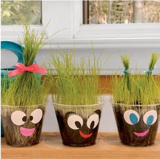 Super Cute Plant Pals!!I will have to do this next year since we already did disposable cups this year. But I think the kids would get a kick out of this!