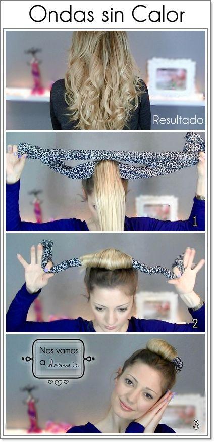 Ondas sin calor paso a paso.  Inspirado en las modelos de Victoria Secret. Mira el video-tutorial  para aprender cómo hacerlo de forma muy sencilla! https://www.youtube.com/watch?v=6BUZRw5Eo1g&list=UU_mRVBJEvxjepU8FcU-a3NA