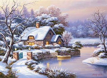 WINTER EVENING Counted Cross Stitch Kit PALETTE