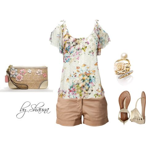 Floral top and feminine accessories - Polyvore: print eliza