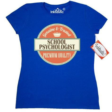 bc018ce93 Inktastic School Psychologist Funny Gift Idea Women's T-Shirt Retired  Quality Premium Occupations Job Vintage Logo Career Clothing Apparel Tees  Adult Hws, ...
