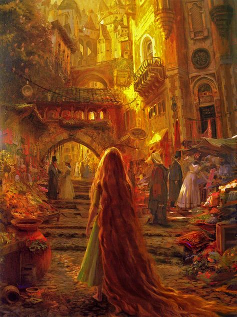 Stunning Tangled concept art by Craig  Mullins