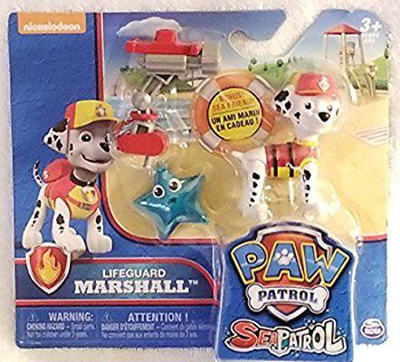 Amazon Com Paw Patrol Sea Patrol Lifeguard Marshall Toys Games Paw Patrol Paw Patrol Nickelodeon Paw