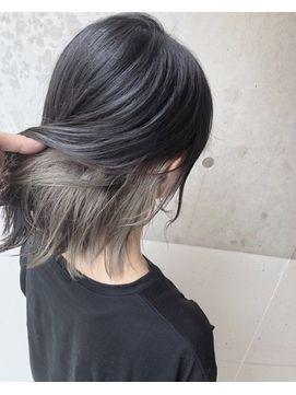 インナーカラーベージュ ヘアスタイリング 髪 カラー 髪色