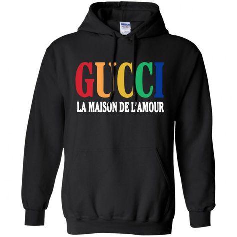quality design 8cf5a fa49a Gucci La Maison De LAmour Hoodie - Shop Gucci Supreme Nike Adidas T Shirt