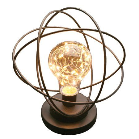 Atomic Age Table Lamp Modern Led Metal Accent Light Neils Bohr Atomic Model Walmart Com Lamp Modern Table Lamp Metal Table Lamps