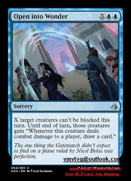 Magic Card Amonkhet MTG Open into Wonder
